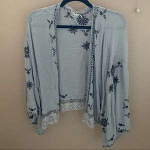 Free people slouchy cardigan cape